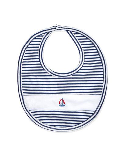 Topsail Striped Bib, Navy/White