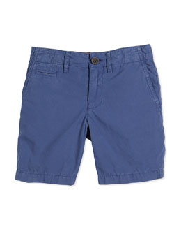 Tristen Cotton Chino Shorts, Canvas Blue, Size 4Y-14Y