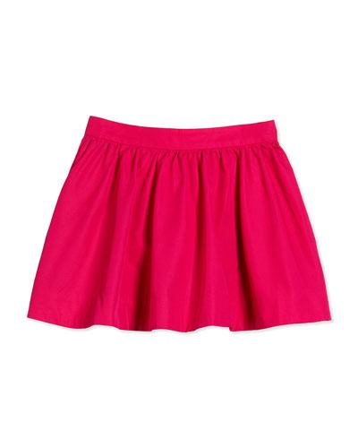 coreen cotton-faille circle skirt, sweetheart pink, size 2-6