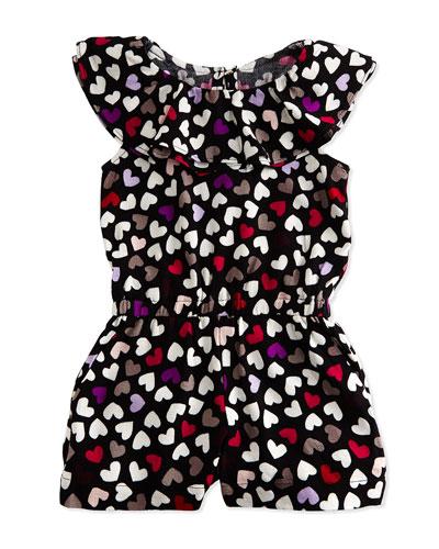 avery heart-print jumpsuit, dancing black, size 2-6