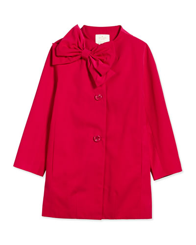dorothy funnel-neck jacket w/ bow, sweetheart pink, size 7-14