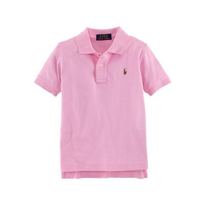 Short-Sleeve Pima Polo Shirt, Taylor Rose, Size 2-7