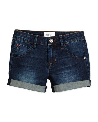 Rolled-Cuff Shorts, Rivington, Size 4-6X
