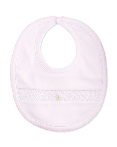 CLB Summer Embroidered Bib, Pink