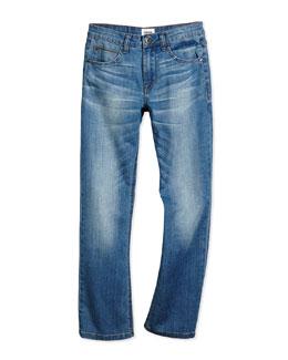 Parker Straight-Leg Jeans, Depth Charge, Size 2T-7