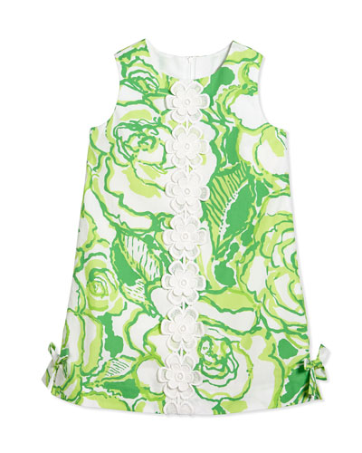 Little Lilly Classic Shift Dress, Resort White Heart Breakers, Girls' Sizes 2-10