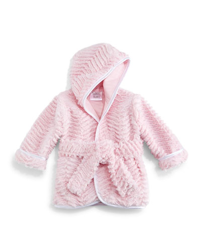 Ziggy Long-Sleeve Plush Robe, Pink, Infant