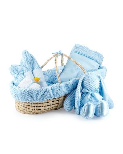 Ziggy Plush Gift Basket, Blue