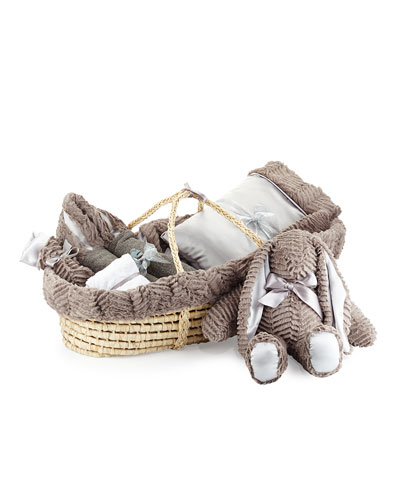 Ziggy Plush Gift Basket, Slate