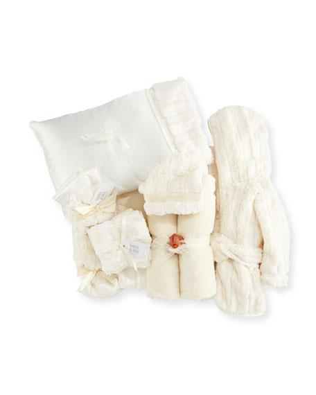 Plush Gift Basket, Ivory