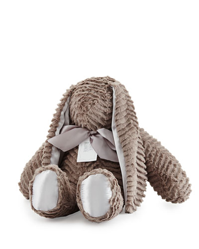 Ziggy Large Plush Bunny, Slate