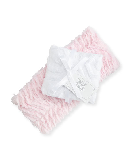 Swankie Blankie Ziggy Burp Cloth Set, Pink