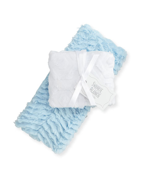 Swankie Blankie Ziggy Burp Cloth Set, Blue