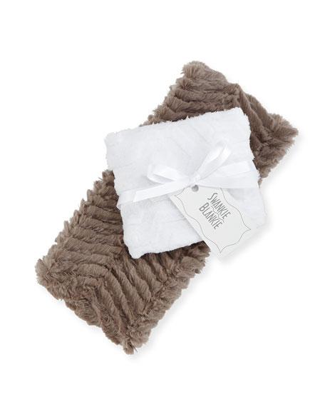 Swankie Blankie Ziggy Burp Cloth Set, Slate