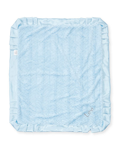 Ziggy Plush Receiving Blanket, Blue