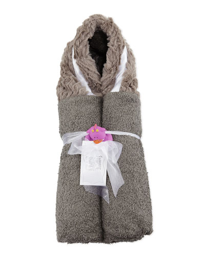 Ziggy Hooded Towel, Slate