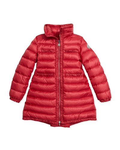 Valerie Hooded Down Coat, Fuchsia, Size 8-14
