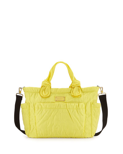 Eliz-A-Baby Pretty Nylon Diaper Bag, Banana Creme