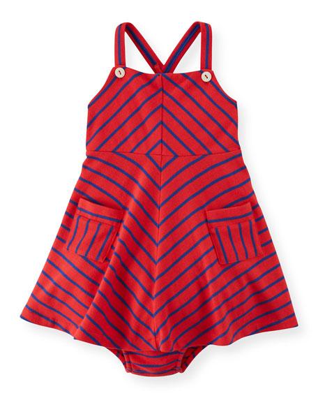 Ralph Lauren Childrenswear Striped A-Line Jersey Dress &