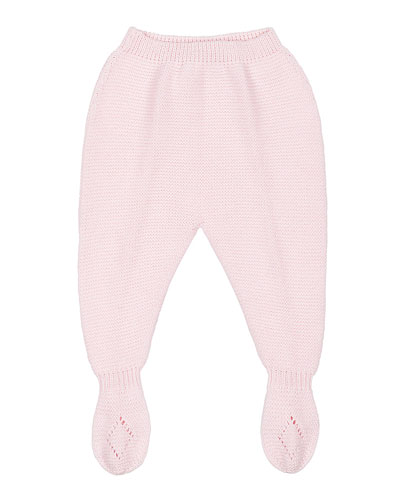 Knit Footed Leggings, Pink, Size Newborn-6 Months