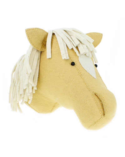 Felt Palomino Horse Head Wall Mount