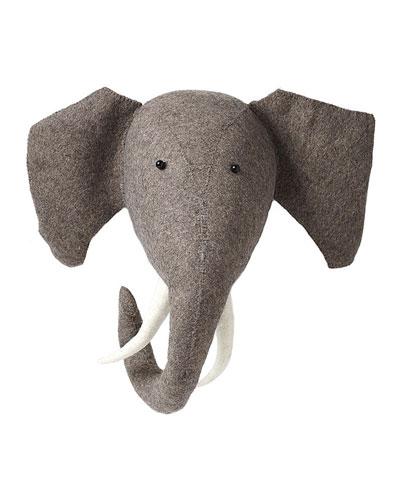 Felt Elephant Head Wall Mount
