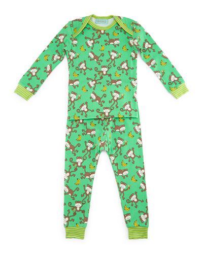 Gone Bananas Pajama Shirt & Pants, Green, Size 2T-8