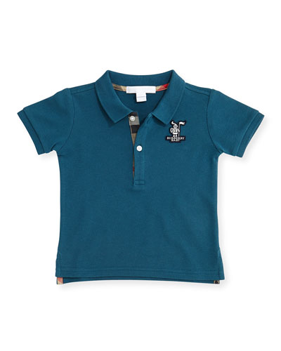 Palmer Pique Polo Shirt, Dark Teal, Size 3M-3Y