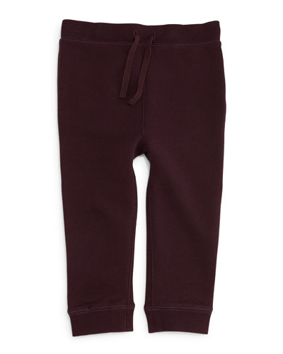 Barty Fleece-Lined Track Pants, Deep Burgundy, Size