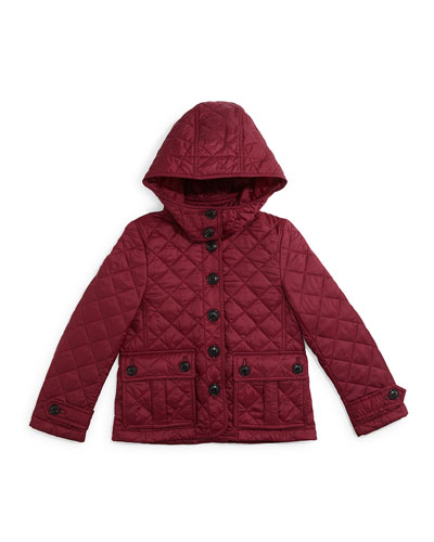 Tiggsmore Slim-Fit Hooded Jacket, Deep Fuchsia, Size 4Y-14Y