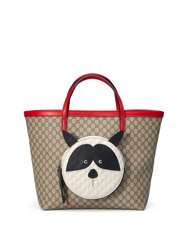 8f209c34663 Gucci Girls  Micro GG Supreme Raccoon-Pocket Tote Bag