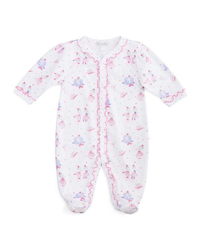 Tutu Precious Footie Pajamas, White/Pink