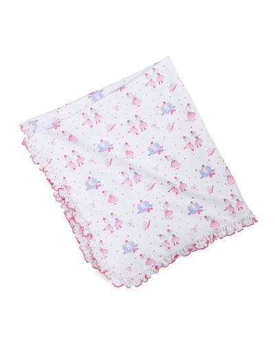 Tutu Precious Pima Blanket, White/Pink