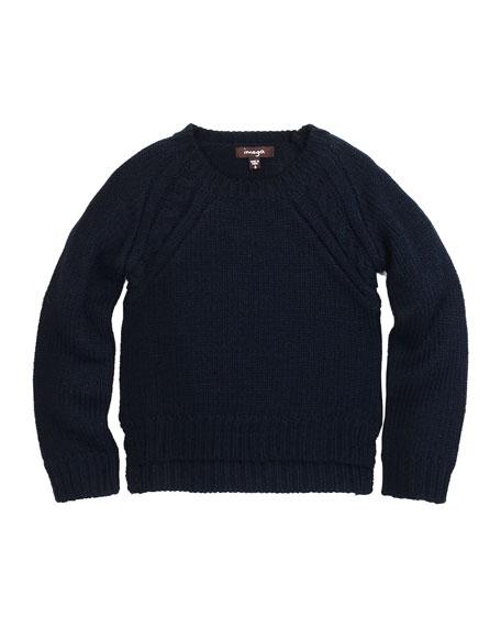 Imoga Raglan Pullover Sweater, Navy, Size 8-14