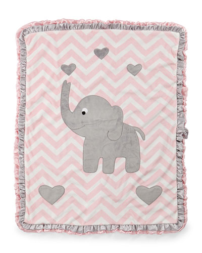 Nm baby blankets cashmere wool at neiman marcus plush chevron elephant blanket pink negle Gallery