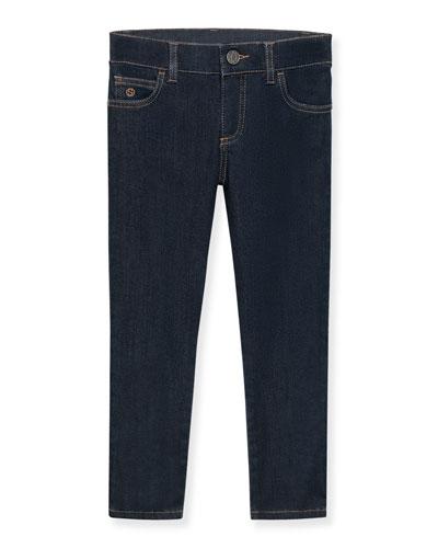 Stretch Skinny Jeans, Indigo, Size 4-12