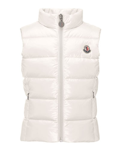 Ghany Quilted Down Vest, Cream, Size 4-6