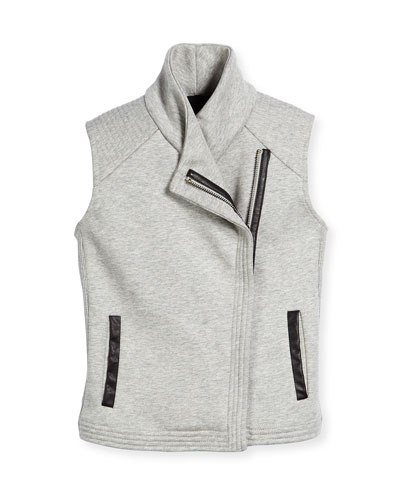 Scuba-Lined Motorcycle Vest, Steel, Size S-XL