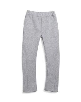 Fleece-Lined Track Pants, Gray, Size 6-10