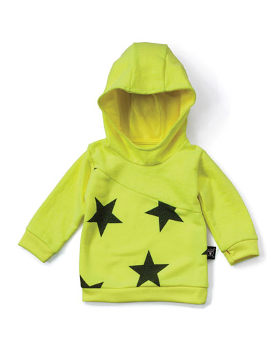 Hooded Star Sweatshirt, Neon Yellow