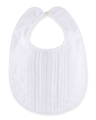 Special Occasion Tiered-Front Bib, White