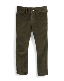 Skinny Corduroy Pants, Forest Night, Size 6-14