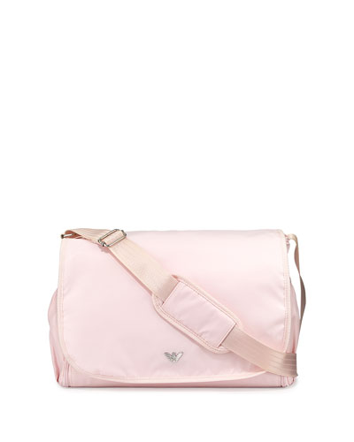 Nylon Diaper Bag, Fancy Pink