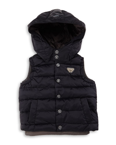 Hooded Puffer Vest, Size 10-14