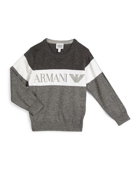 Armani Towels Online: Armani Junior Long-Sleeve Colorblock Pullover Sweater