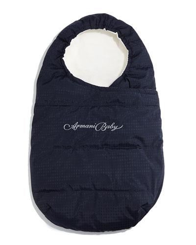 Logo-Jacquard Bunting Bag, Indigo