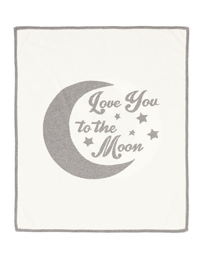 Cashmere-Blend Moon Baby Blanket, Cream