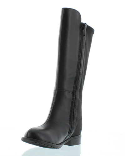 5050 Faux-Leather Riding Boot, Black, Toddler