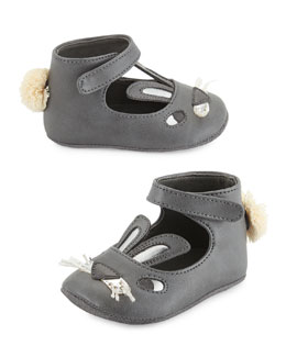 Hopper Bunny Ballet Flat, Gray, Infant