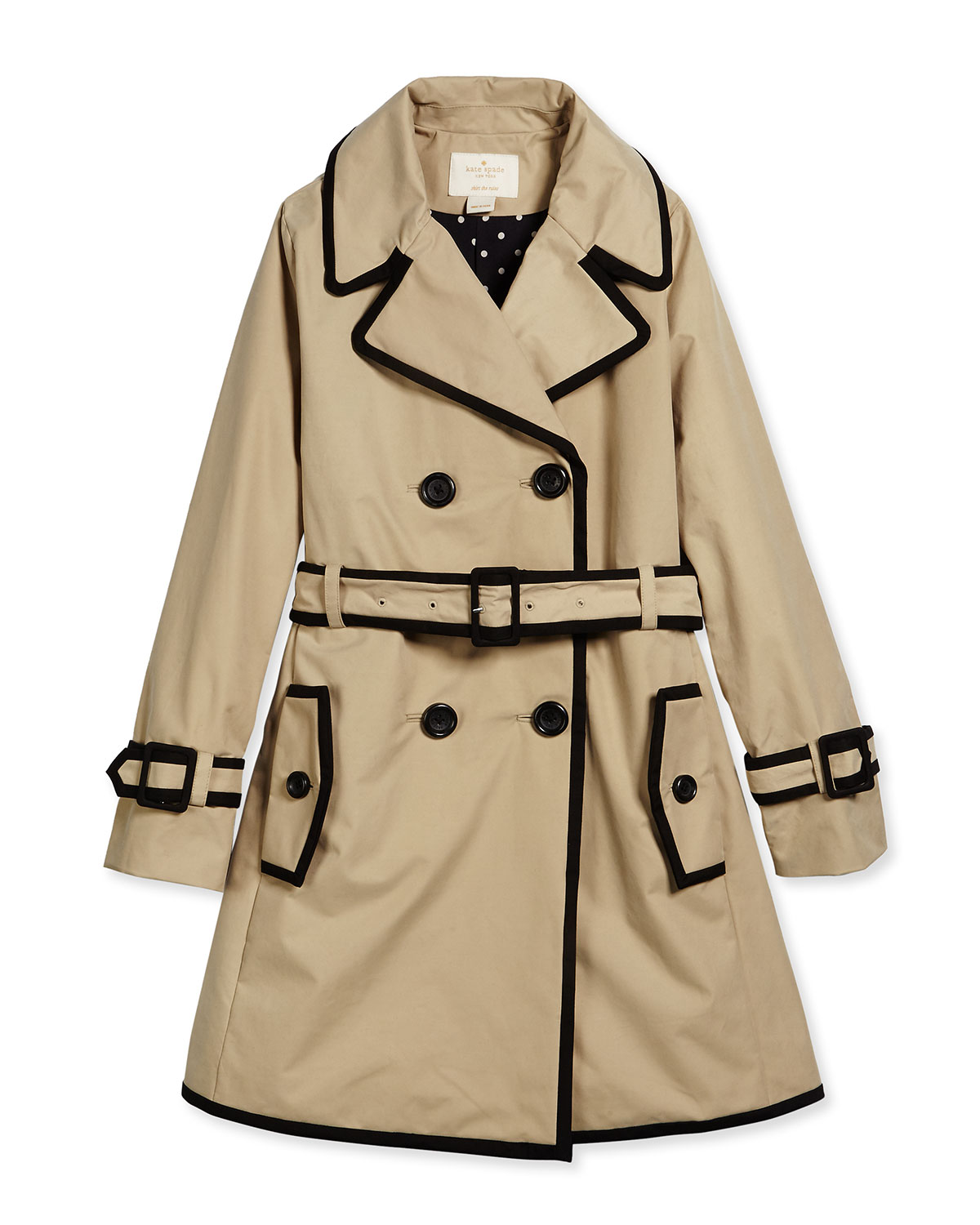fd08086e2cc5 kate spade new york contrast-trim top liner trenchcoat
